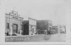 Forest River, ND, Main Street looking south, 1920s