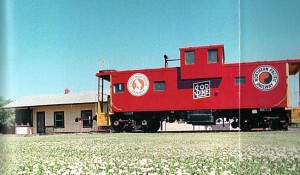 Caboose and Train Station
